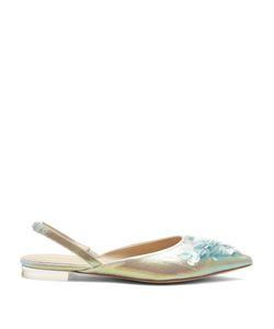 Delpozo | Point-Toe Sequin-Embellished Slingback Flats