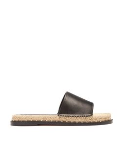 Valentino | Rockstud Leather Espadrille Slides