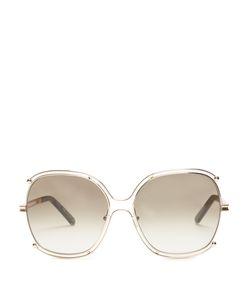 Chloé | Modified Square-Frame Sunglasses