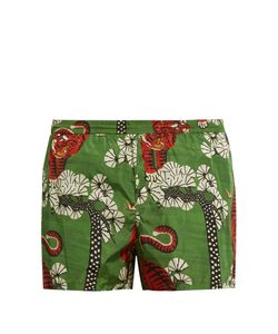 Gucci | Tiger-Print Nylon Swim Shorts