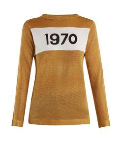Bella Freud   1970 Round-Neck Intarsia-Knit Sweater