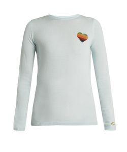 Bella Freud   Disco Heart Wool-Blend Sweater