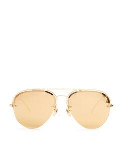 Linda Farrow | Mirrored Plated Aviator Sunglasses