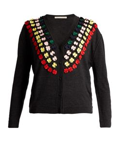 Marco de Vincenzo | Bow-Embellished Wool Cardigan