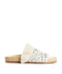 Chloé | Nolan Embroidered And Fringed Slides