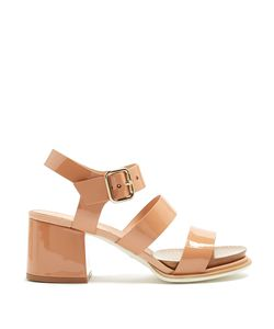 Tod's | Patent-Leather Block-Heel Sandals