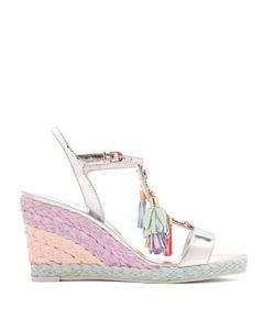 Sophia Webster | Lucita Tassel Leather Wedge Sandals