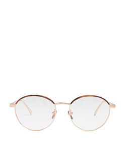 Linda Farrow | Roseplated Round-Frame Glasses
