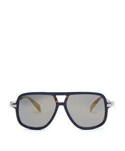 Alexander McQueen | Flat-Top Mirrored Sunglasses