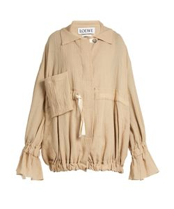 Loewe | Ruffled-Cuff Crinkled Cotton-Blend Jacket