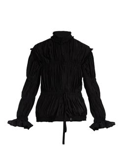 J.W.Anderson | High-Neck Pleated Crepe Jacket