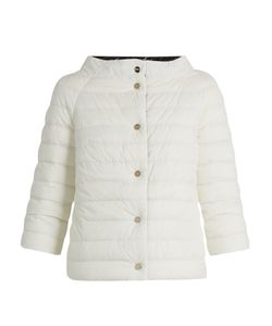 Herno   Boat-Neck Reversible Quilted Down Jacket