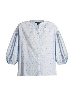 Saloni | Bette Cotton-Blend Seersucker Shirt