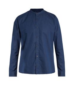 Sunspel | Granddad-Collar Cotton-Blend Shirt