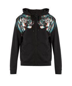MARCELO BURLON | Tajo Hooded Zip-Up Cotton-Jersey Sweatshirt