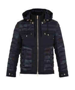 Balmain | Camouflage-Print Quilted Down Coat