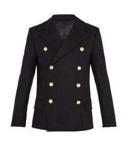 Balmain | Double-Breasted Wool Pea Coat