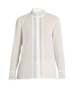 Vanessa Bruno | Gina Broderie-Anglaise Cotton And Linen-Blend Top