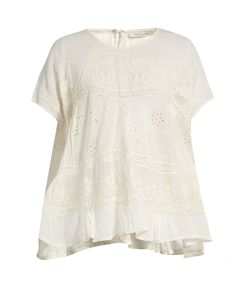 Mes Demoiselles | Vicomte Broiderie-Angalise Cotton Top