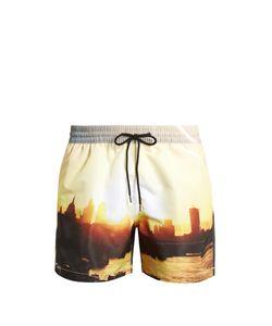 Paul Smith | London Skyline-Print Swim Shorts