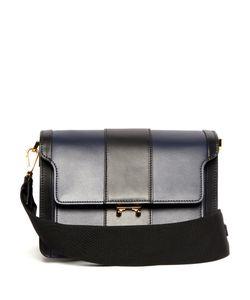 Marni   Trunk Medium Striped Leather Shoulder Bag