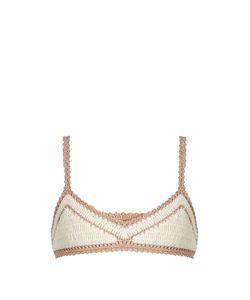 She Made Me | Sana Crop Crochet Bikini Top