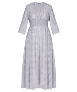 Emilia Wickstead | Madeleine Print Smocked-Waist Dress