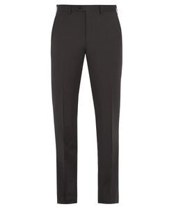 Brioni | Mid-Rise Slim-Leg Wool Tailored Trousers