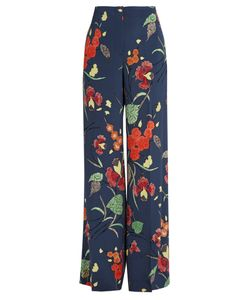 Diane von Furstenberg | Ampère-Print Wide-Leg Cady Trousers