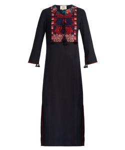 Figue | Josefina Embroidered Crepe Midi Dress