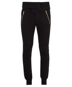 Balmain | Foldover-Waist Cotton Track Pants