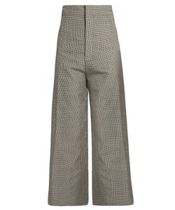 Jacquemus | Hounds-Tooth Wool-Blend Cropped Trousers