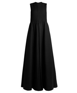 Valentino | Pintuck-Pleated Gown