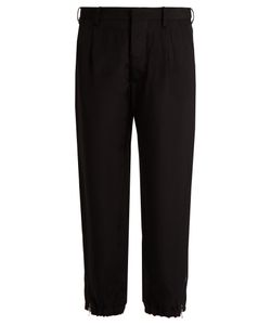 Marni | Twill Tapered Cropped-Leg Trousers