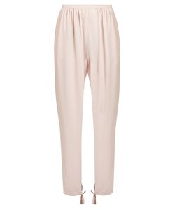 Chloé | Tapered-Leg Ankle-Tie Cady Trousers