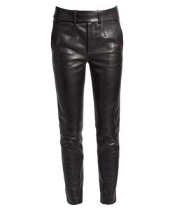 Saint Laurent | Smoking Leather Biker Trousers