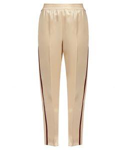 Gucci | Web-Striped Duchess-Satin Trousers