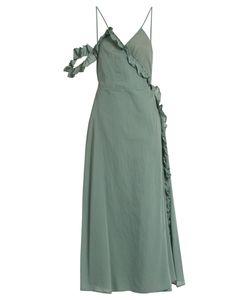 LOUP CHARMANT   Waterfall Cotton Wrap Dress