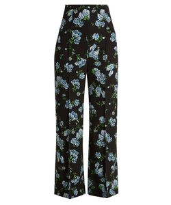 Emilia Wickstead | Hullinie Print Georgette Trousers