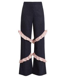 Huishan Zhang | Elisa High-Rise Ruffle-Trimmed Trousers