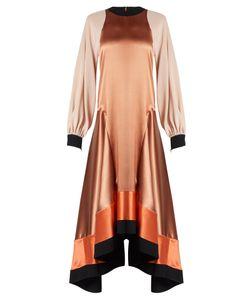 Roksanda | Larmia Round-Neck Butterfly-Hem Satin Dress