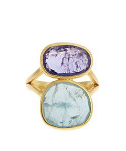PIPPA SMALL   Amethyst Aquamarine Ring