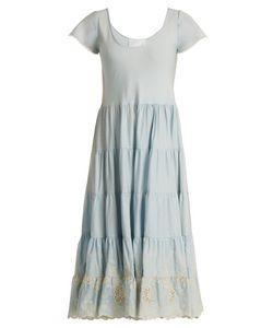 Athena Procopiou   Gypset Embroidered Gathered Cotton Dress