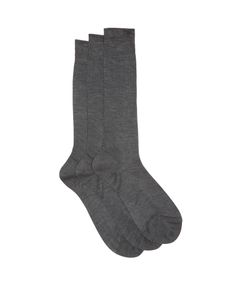 RAEY | Set Of Three Silk Socks