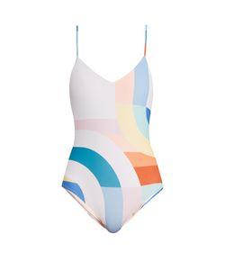 Mara Hoffman   Meridan-Print Scoop-Back Swimsuit
