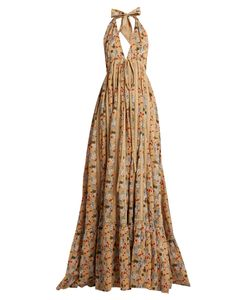 KALITA   Rooftop Runwayprint Cotton Maxi Dress