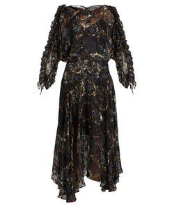 Preen by Thornton Bregazzi | Ermin Flower-Print Satin Devoré Silk Dress