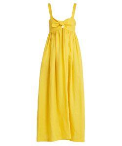 Mara Hoffman   Tie-Front Midi Linen Dress