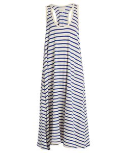 The Great | The Swing Striped Cotton-Jersey Dress