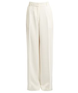 Ryan Roche | Wide-Leg Crepe Trousers